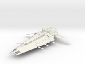 Battle Cruiser II in White Strong & Flexible