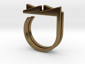 Adjustable ring. Basic set 3. in Polished Bronze