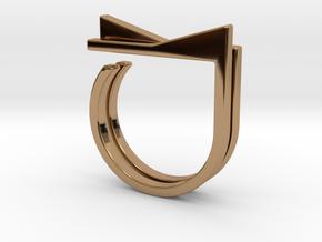Adjustable ring. Basic set 4. in Polished Brass
