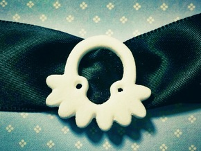 Octopus Ribbon Charm in White Natural Versatile Plastic