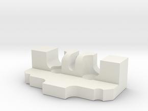 Ormerod 1079 in White Natural Versatile Plastic