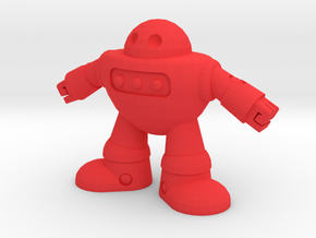 Barry the robot in Red Strong & Flexible Polished