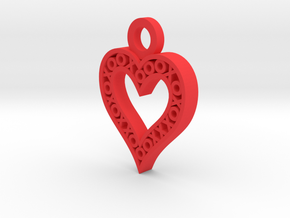 XO Heart Keyring in Red Processed Versatile Plastic