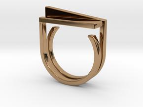 Adjustable ring. Basic set 5. in Polished Brass