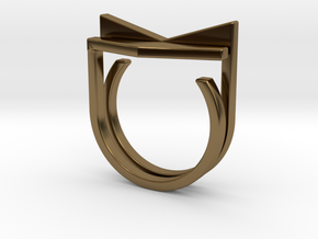 Adjustable ring. Basic set 6. in Polished Bronze