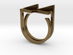Adjustable ring. Basic set 7. in Polished Bronze