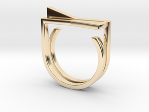 Adjustable ring. Basic set 8. in 14K Yellow Gold