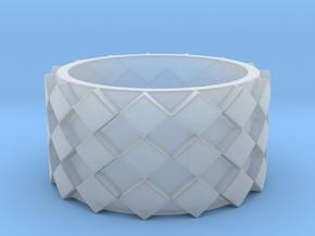 Futuristic Diamond Ring Size 5 in Smooth Fine Detail Plastic