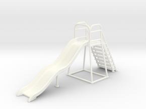 Children's Wave Slide, Dollhouse Miniature (1:48) in White Processed Versatile Plastic
