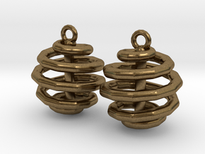 Ring-in-a-Ball-02-EarRing in Natural Bronze