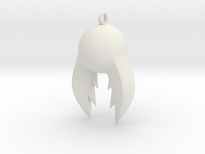 Zire Pendant in White Natural Versatile Plastic