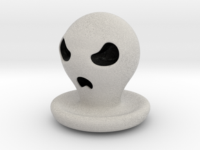 Halloween Character Hollowed Figurine: AngryGhosty in Full Color Sandstone