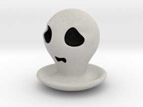 Halloween Character Hollowed Figurine:FearfulGhost in Full Color Sandstone