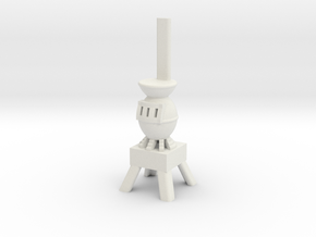 Potbelly Stove - HO 87:1 Scale in White Strong & Flexible