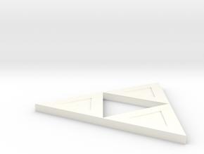 Triforce in White Processed Versatile Plastic
