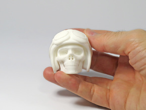 Easy Rider Skull (50mm H) in White Natural Versatile Plastic