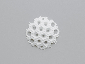 Hex Sphere Slice in White Natural Versatile Plastic