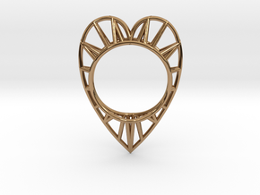 The Heart ring size 7 1/2 US  (17.75 mm) in Polished Brass