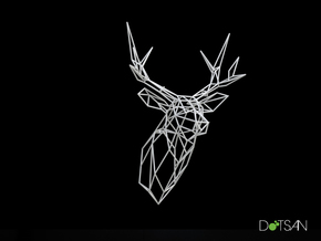 XL Stag Deer Trophy Head Facing Ahead in White Strong & Flexible