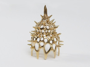 Calocyclas Radiolarian pendant in Natural Bronze