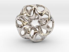 Summer Flower Pendent in Platinum