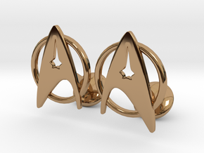 StarTrek Cuffliknks in Polished Brass