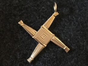 Brigid's Cross pendant in Natural Brass