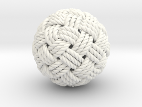 Big Globe Knot in White Processed Versatile Plastic