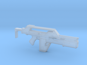 Pulse Rifle Aliens Uscm 52mm in Smooth Fine Detail Plastic
