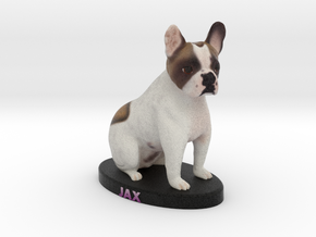 Custom Dog Figurine - Jax in Full Color Sandstone