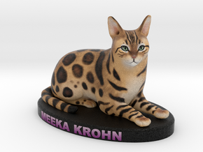 Custom Cat Figurine - Meeka in Full Color Sandstone