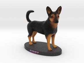 Custom Dog Figurine - Kirby in Full Color Sandstone