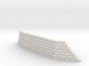 T SCALE DOUBLE TRACK WING WALL in White Natural Versatile Plastic