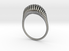 Spiral Ring in Natural Silver