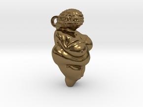 Venus of Willendorf Pendant in Polished Bronze