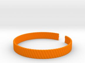 Weave Bangle (Medium) in Orange Processed Versatile Plastic