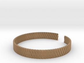 Weave Bangle (Medium) in Polished Brass