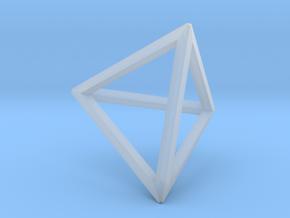 Tetrahedron(Leonardo-style model) in Smooth Fine Detail Plastic