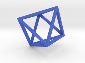 Octahedron(Leonardo-style model) in Blue Strong & Flexible Polished