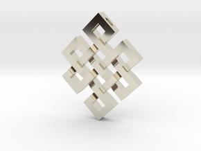 Eternal Knot Pendant in 14k White Gold