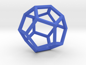 Dodecahedron(Leonardo-style model) in Blue Processed Versatile Plastic