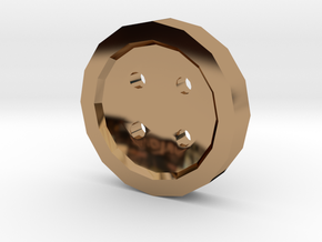 shirt button in Polished Brass
