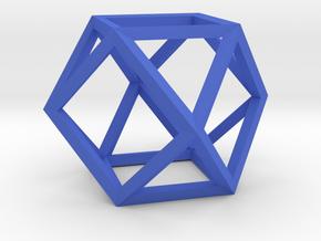 Cuboctahedron(Leonardo-style model) in Blue Processed Versatile Plastic