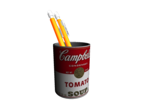 Campbell Soup Can Desk Accessory in Full Color Sandstone