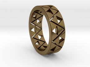 Triforce Ring Size 9 in Natural Bronze