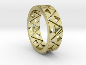 Triforce Ring Size 11 in 18k Gold Plated Brass
