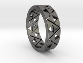 Triforce Ring Size 11 in Polished Nickel Steel