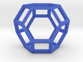Truncated Octahedron(Leonardo-style model) in Blue Processed Versatile Plastic