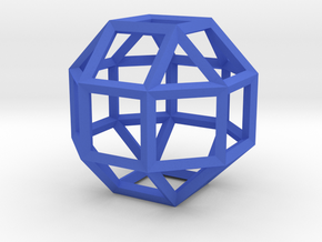 Rhombicuboctahedron(Leonardo-style model) in Blue Strong & Flexible Polished