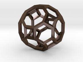 Truncated Cuboctahedron(Leonardo-style model) in Polished Bronze Steel